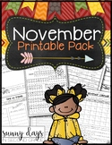 November Printable Pack