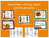 November Reading Signs and Bookmarks