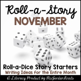 {November} Roll-a-Story Writing Activity