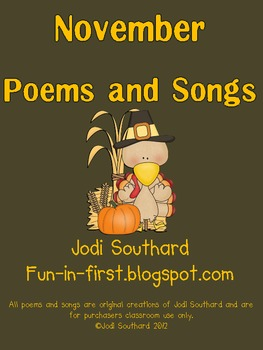 November Songs and Poems