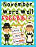 November Word Wall {Freebie}