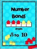 Number Bonds from 5 to 10 Smartboard Lesson and Matching P