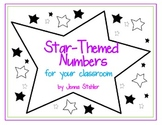 Number Cards: Star-themed