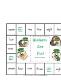 Number Games --number words, teen numbers, numbers 0-10
