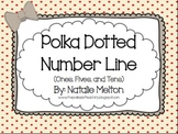 Number Line with Polka Dots (Ones, Fives, Tens)