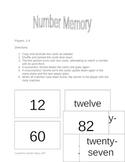 Number / Number Word Memory