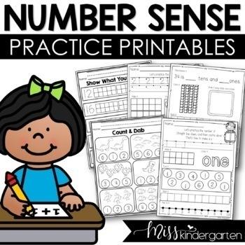 Number Practice Printables {0-20}