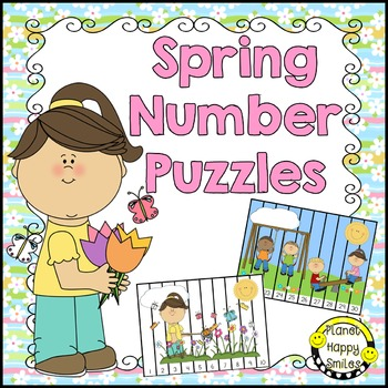 Number Puzzles: Spring ~ Pre-K ~ Kindergarten