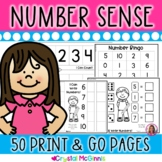 Number Sense! 50 Counting and Cardinality Printables (Kind
