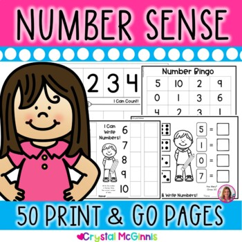 Number Sense! 50 Counting and Cardinality Printables (Kindergarten Common Core)