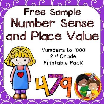 FREE SAMPLE: Number Sense Printables for 2nd Grade