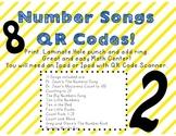 Number Songs QR Codes