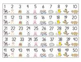 Number Strips w/ Farm Animals