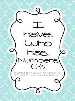 """Number Version of """"I have... Who has?"""""""