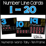 Number Word Cards 1-20 {black}