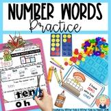 Kindergarten Number Words Practice {PRINT AND GO}