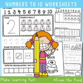 Number Worksheets - Writing and Number Concepts 1-10