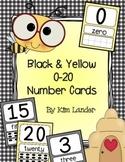 Number cards 0-20