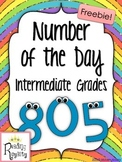 Number of the Day FREEBIE! (Intermediate Grades)