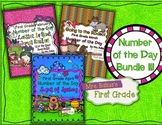 Number of the Day {Feb, March, April} First Grade Math Bundle