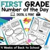 Number of the Day {Going Back to School} First Grade Place