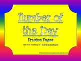 Number of the Day Practice Pages