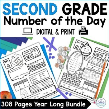 Second Grade Math Place Value Bundle {The Whole Year} Number of the Day