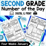Number of the Day {Winter Wonderland} Second Grade Math January