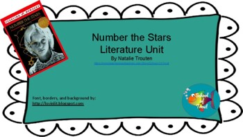 Number the Stars Literature Unit