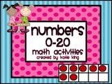 Numbers 0-20 Math Activities