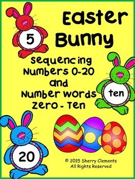 Numbers (0-20) and Number Words (zero-ten) Sequencing - Ea