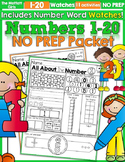 Numbers 1-20 NO PREP (with Number Word Watches)