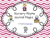 Nursery Rhyme Journal Pages