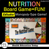 Health Lesson: Nutrition Facts Board Game-Fun, Educational