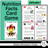 NEW!! - Nutrition Facts Card Game! This 52-Card Deck Makes