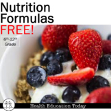 Nutrition Formulas: How many calories,fat,sugar grams shou