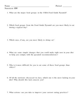 Nutrition Homework