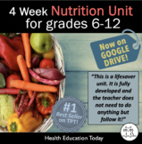 Nutrition Unit: 3-Weeks of Daily Plans, 190-Slide PwrPt, D