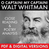 O Captain! My Captain! Walt Whitman Compare & Contrast Poe