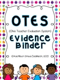 OTES (Ohio Teacher Evaluation System) Editable Binder Resources