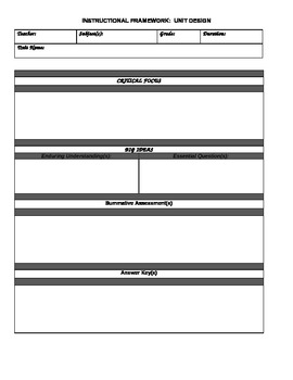 OTES Template for Unit/Lesson Plans for Social Studies