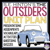 OUTSIDERS UNIT - Assignments, Presentations, Quizzes, Voca