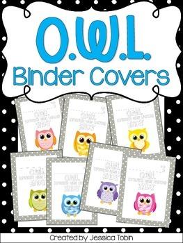 O.W.L. Binder Covers