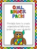 O.W.L. (Organized While Learning) Binder Pack