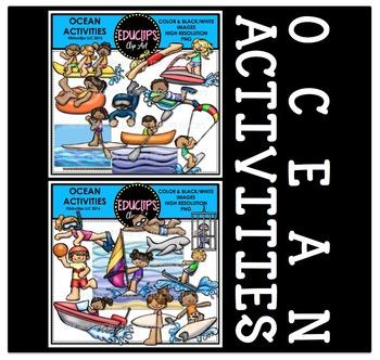Ocean Activities Clip Art Bundle