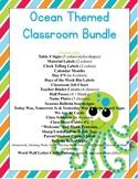 Ocean Classroom Decor Bundle (Penmanship Font Edition)