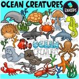 Ocean Creatures Clip Art Bundle