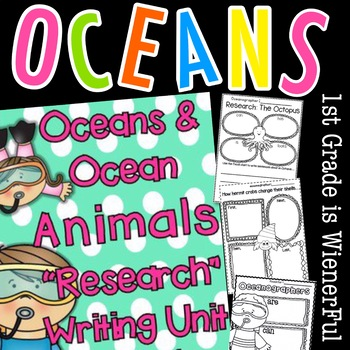 "Ocean ""Research""w/ Ocean Animals ""Research"" Writing w/Literacy & Math activities"