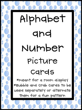 Ocean Theme Alphabet and Number Cards