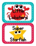 Ocean Themed Table Signs (animal edition)